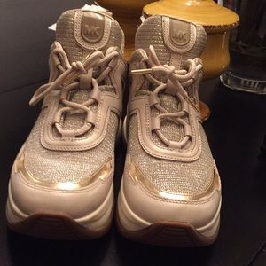 Michael Kors Olympia Trainers Sneakers Size 10